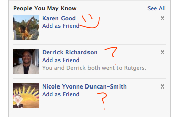 Derrick and Nicole...Where do I know you from?