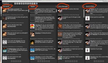 TweetDeck page