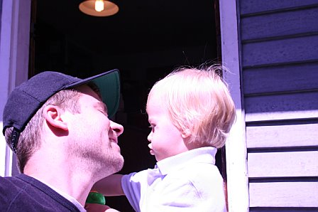 Ryan Fischer-Harbage with his son Evan.
