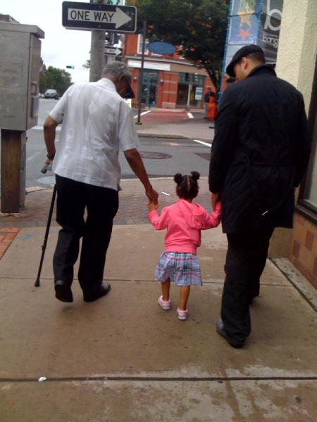 Daddy, TG and TH. Father's Day 2009