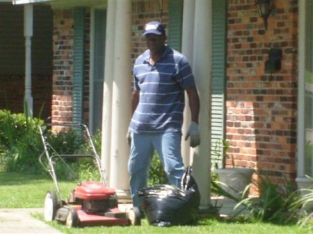 """Ava Duvernay's dad: My Pop is Murray Maye of Lowndes County, Alabama.  Here he is doing one of his favorite things - working in the yard.  He is one of eight brothers.  He came to Los Angeles in the late 70s, met my Mom, and married her and her three little girls.  He is a man of simple pleasures, but is anything but a simple man.  Pop is strong, kind and has taught me so much.  Last year, I jotted this down in my journal.  It sums up how I feel about him and why.  """"Just off the phone with Pop. At one point, I ask how he is. He said I can't complain and if I did it wouldn't matter anyway. He said, Everyday I walk outside and see the sunshine and am thankful cause it doesn't have to be that way. Those are pretty much his exact words. Love him.""""  Happy Father's Day, Pop."""