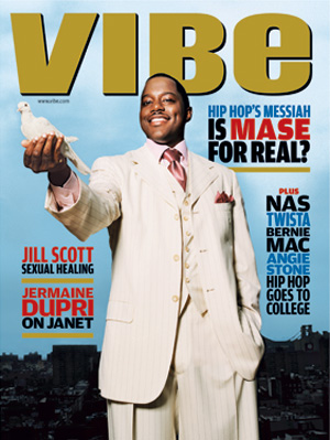 "Heather Faison's favorite VIBE cover: ""This cover came out around the time I rededicated my life to God. The irony of him holding a white dove with the sullied cityline in the background was striking artistically. And the headline is a rhetorical 'no'. You can almost hear the editors chuckling at the thought"""