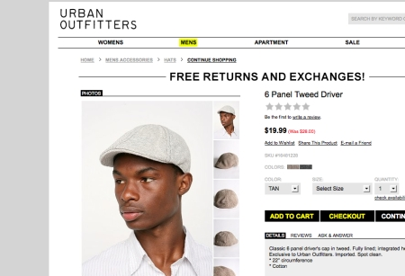 UrbanOutfitters.com > 6 Panel Tweed Driver